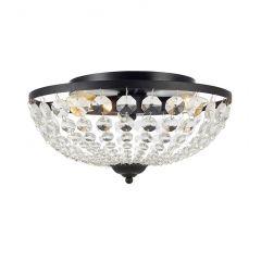 GRÄNSÖ Lampa plafon kryształowy 3 płom. czarny IP21 MARKSLOJD 107592
