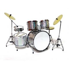 Mini perkusja MDR-0039 - silver chrome; skala 1:5