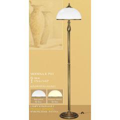 Lampa podłogowa 3 płom. Modena R klosz opal Ø 38cm biały krem RP1H RP1HE ICARO