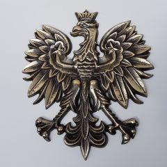 Największy Orzeł Godło Polski 42cm waga 5,95kg Mosiądz - szkoła sąd urząd kancelaria biuro