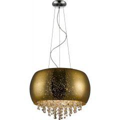 Vista Lampa wisząca z kryształkami 5 płom. złota/chrom Zuma Line P0076-05K-F4GQ