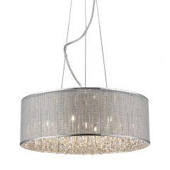 Blink Lampa wisząca Ø55 cm 7 płom. chrom/kryształ Zuma Line P0173-07W-F4B3