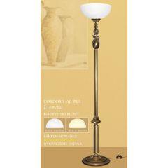 Lampa podłogowa 1 płom. góra CORDOBA AL klosz alabaster Ø 35cm biały krem P1A ICARO