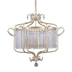 Rinaldo Lampa żyrandol kryształowy 6 płom. złoto szampańskie Italux PND-33057-6-CH.G