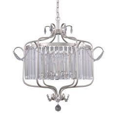 Rinaldo Lampa żyrandol kryształowy 6 płom. srebrnoszary Italux PND-33057-6-CH.S