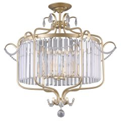 Rinaldo Ampla kryształowa 6 płom. szampańskie złoto Italux PNPL-33057-6B-CH.G