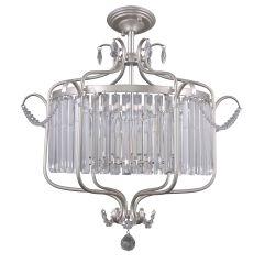 Rinaldo Ampla kryształowa 6 płom. srebrnoszara Italux PNPL-33057-6B-CH.S