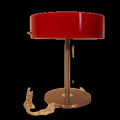 Lampa biurkowa 3 płomienna Lima klosz czerwony G9 Ramko