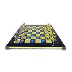 Ekskluzywne, duże duże klasyczne e szachy metalowe Stauton S34; 36x36cm GiftDeco