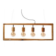Lampa żyrandol 4 płomienny SIMPLY WOOD HPlampy SI4W