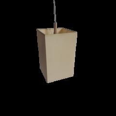 Lampa wisząca 1 płomienna abażur beżowy