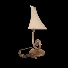 Lampa stołowa 1 płomienna Rumcajs szampańskie złoto klosz biały  E14 Luminex