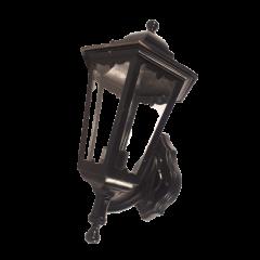 Kinkiet zewnętrzny 1 płomienny Latarnia czarny E27 Brillux