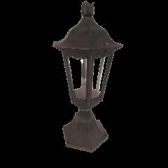 Stojąca lampa zewnętrzna 1 płomienna Latarnia zielona