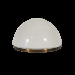 Klosz biały opalizowany z obręczą Ø20