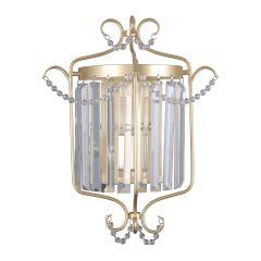 Rinaldo Kinkiet kryształowy 1 płom szampańskie złoto  Italux WL-33057-1-CH.G