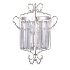 Rinaldo Kinkiet kryształowy 1 płom. srebrnoszary  Italux WL-33057-1-CH.S