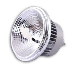 Żarówka LED 15W 3000K ES111 GU10 ściemnialna chromowana ramka AZ1785
