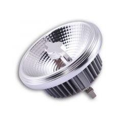 Żarówka LED QR111 12V 3000K 15W 24° G53 chromowana ramka Azzardo AZ1784