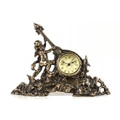 Zegar mosiężny GITARA, doskonała jakość, dekoracja, prezent