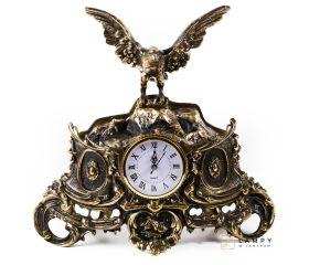 Duży zegar kominkowy z orłem